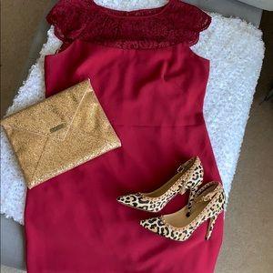 Lace Detail Sheath Dress